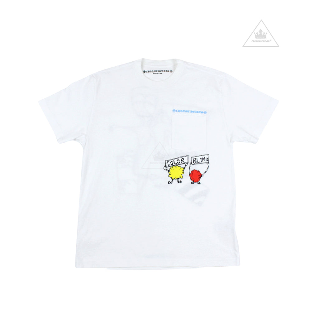 Chrome Hearts Matty Boy Retro Cycle Short Sleeve T Shirt White