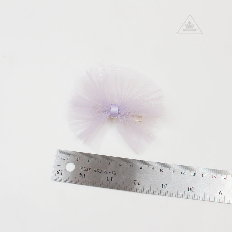 Petite Hailey Small Tutu Bow Navy/ Lavender/ Purple