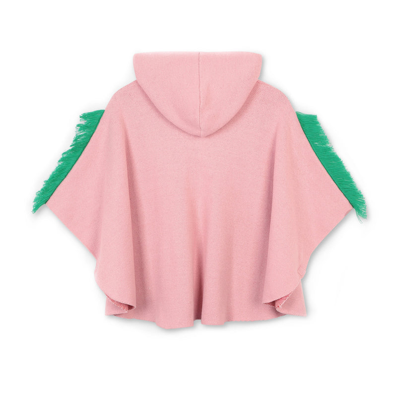Stella McCartney Kids Girl Knit Cape With Horses Intarsia