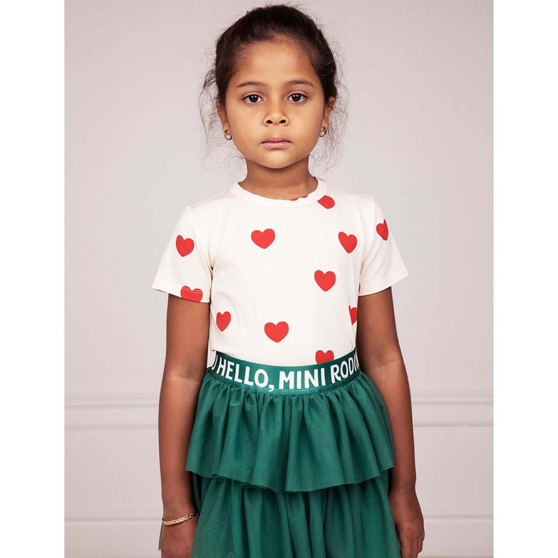 Mini Rodini Tulle Kids Skirt Green
