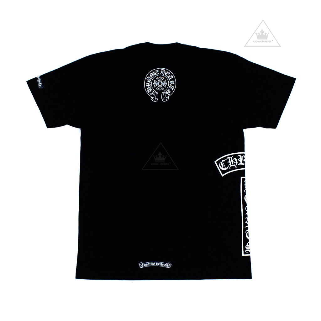 Chrome Hearts Horseshoe T Logo Short Sleeve Shirt Black
