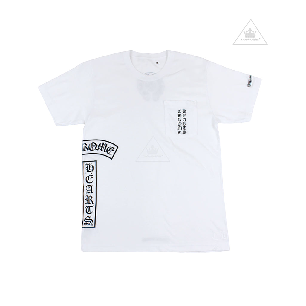 Chrome Hearts Horseshoe T Logo Short Sleeve Shirt White