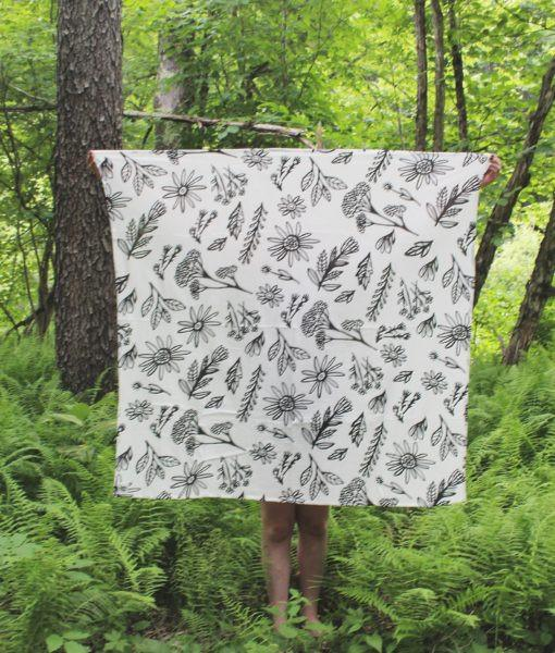 "Young and Free Apparel Swaddle Blanket ""Wild Flowers"""