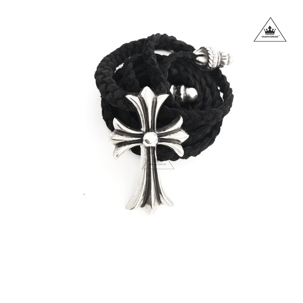 Chrome Hearts CH Cross Black Braided Rope