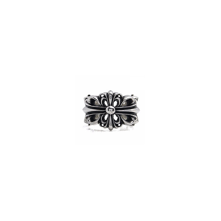 5e2ab0b1897 Chrome Hearts Double Floral Ring – Crown Forever