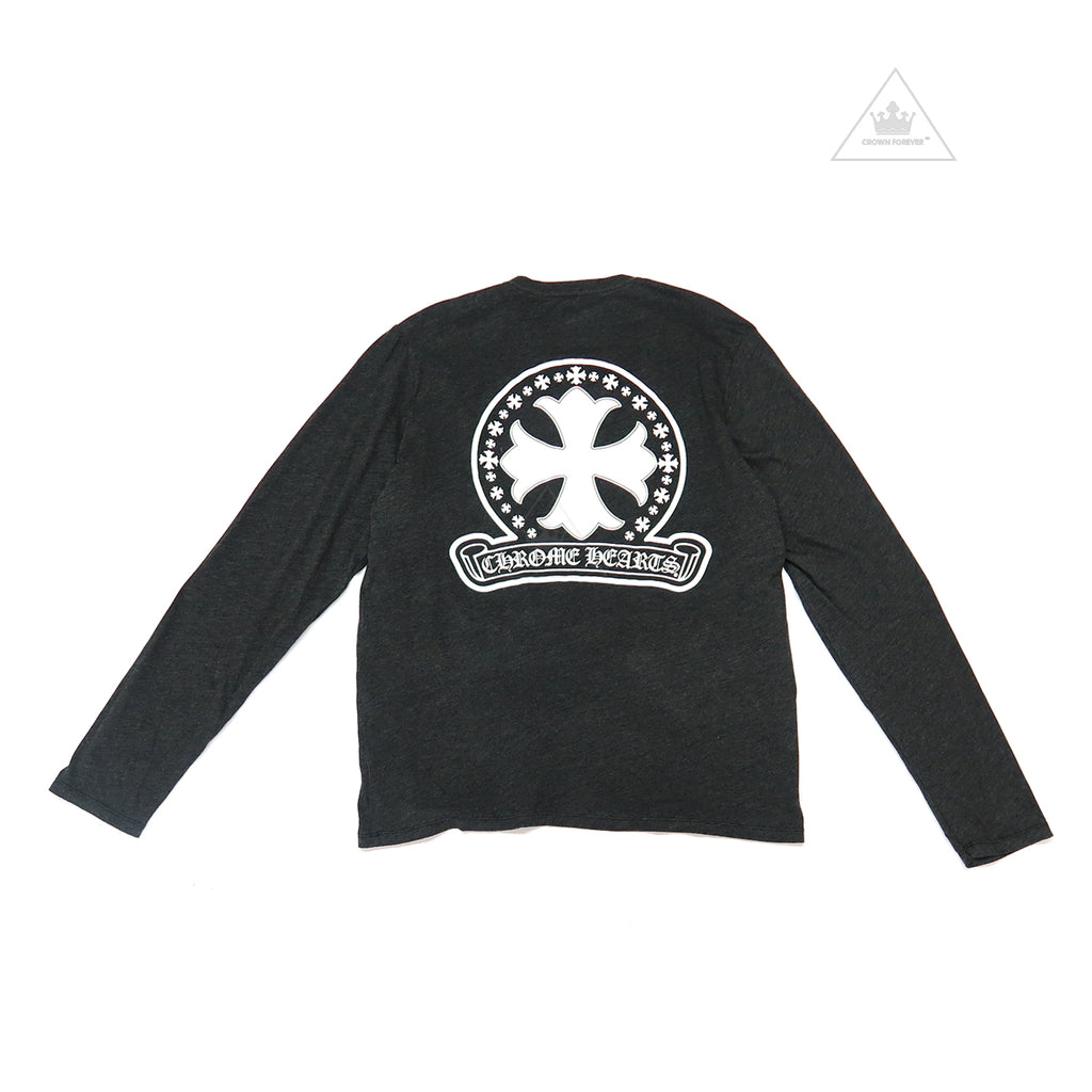 Chrome Hearts Plus Cross Long Sleeve Tee