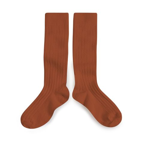 Collegien La Haute Ribbed Knee-High Socks - Pain D Epice