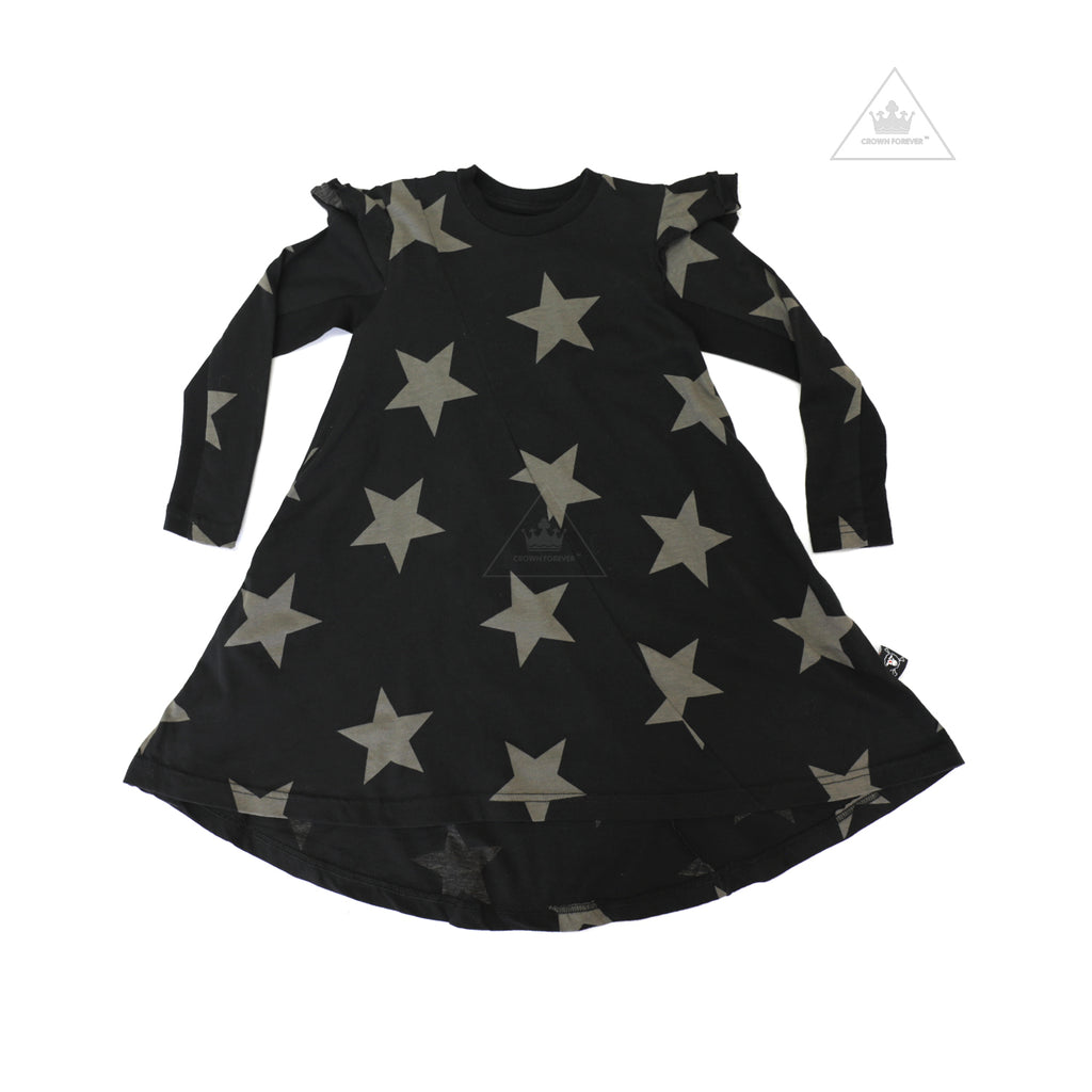 Nununu World Ruffled Sleeve 360 Dress Black