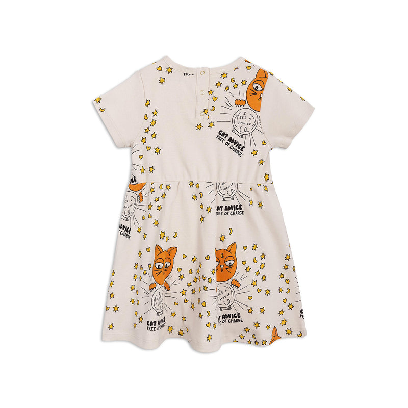 Mini Rodini Cat Advice Short Sleeve Dress