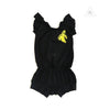 WEE MONSTER Black Romper (Banana Patch)