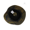 Chrome Hearts Cross Leather Patch Leather Bucket Hat in Camouflage
