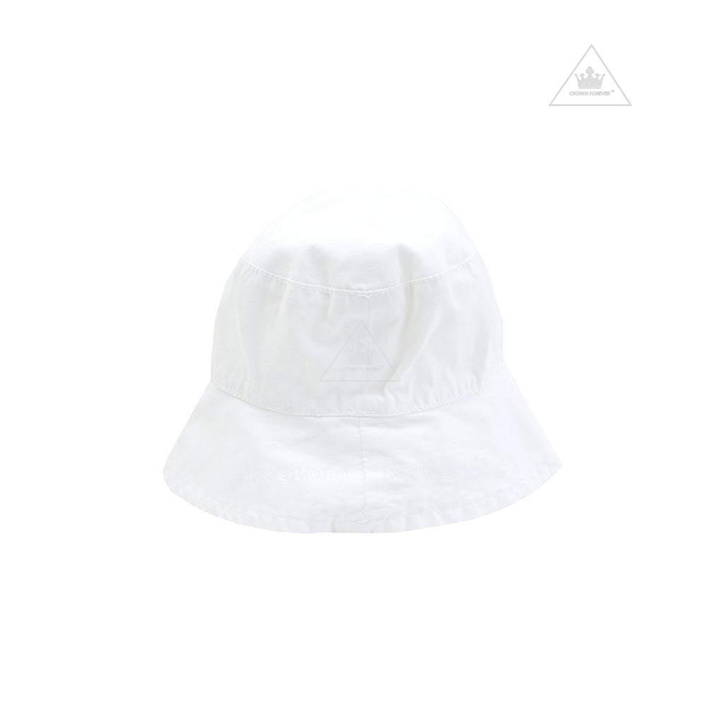 Chrome Hearts Infant's 3RS Logo White Bucket Hat