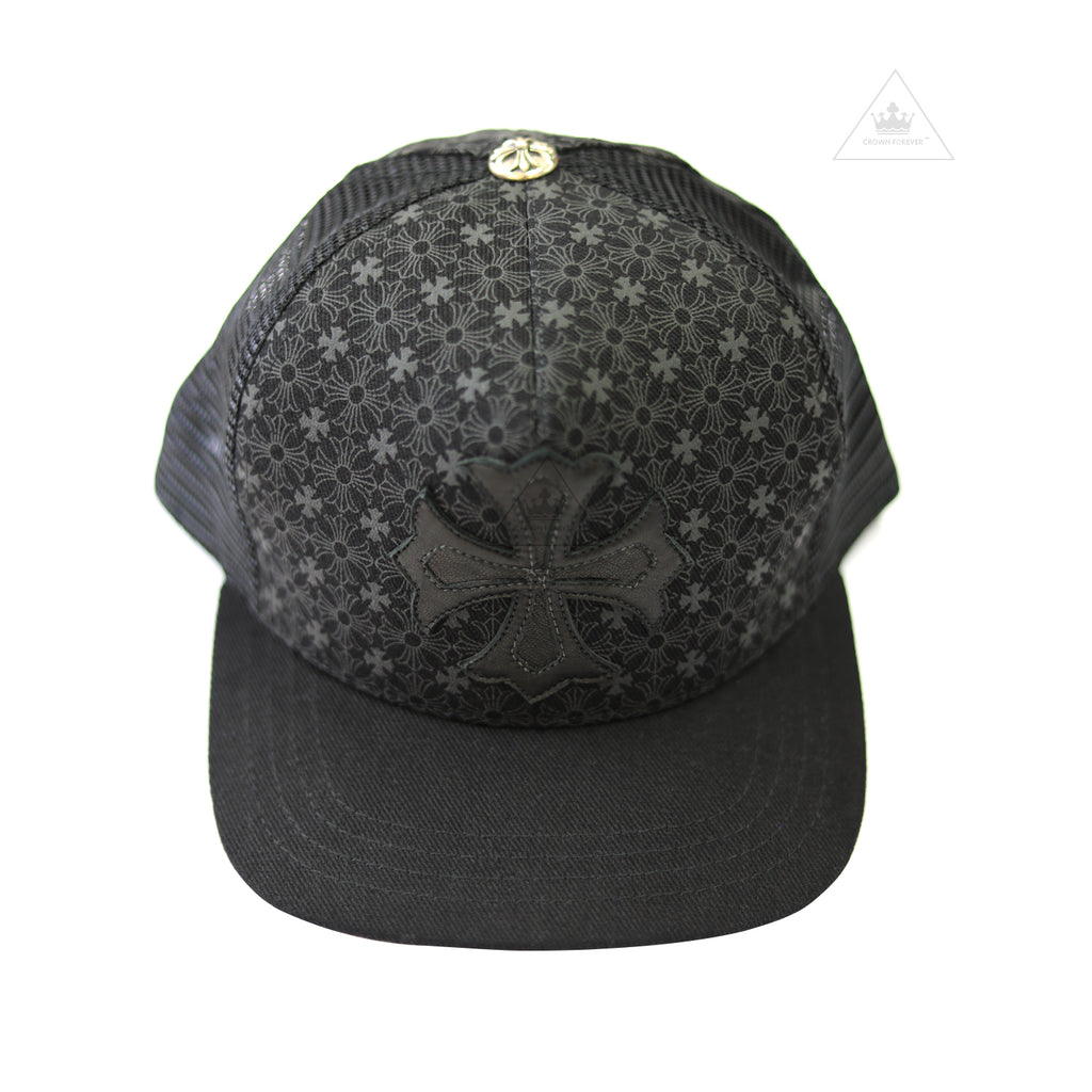 Chrome Hearts Leather Patch Vented Trucker Cap