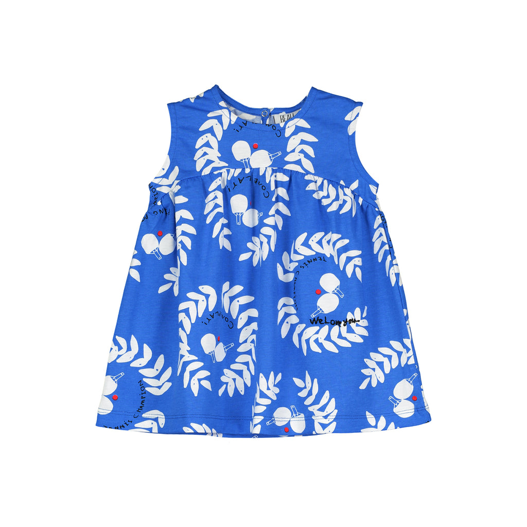 Beau Loves Baby Dress, Ink Blue, Ping Pong Club AOP