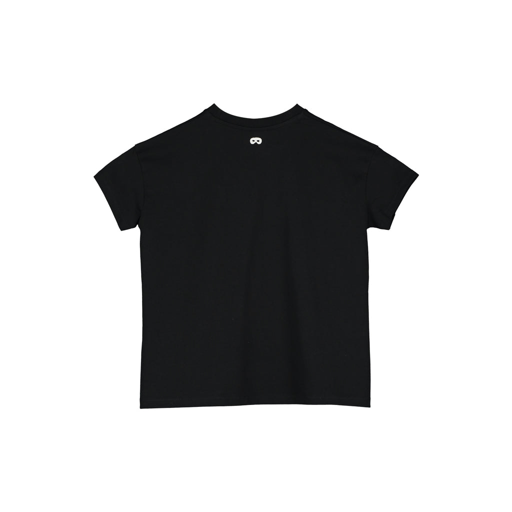 Beau Loves  Short Sleeve Square T-shirt, Black, Where's my spectacles?