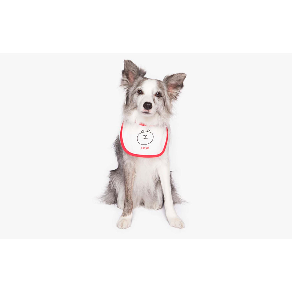 Woof by Betters Barrels x Napis Square Baby Color Bib (LOVE)