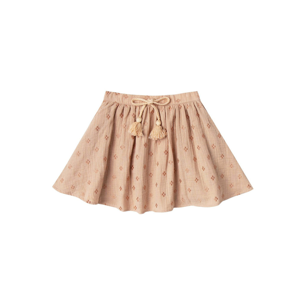 Rylee And Cru Cross Embroidered Mini Skirt