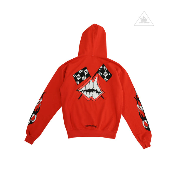 Chrome Hearts Art Basel Chomper Checkered Flag Pullover Hoodie