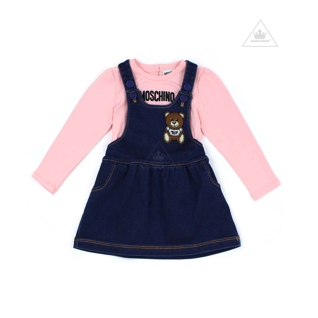 Moschino Kids T Shirt and Dress Set Suger Rose