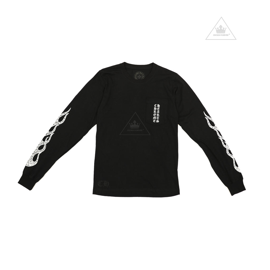 Chrome Hearts Flame Long Sleeve Tee