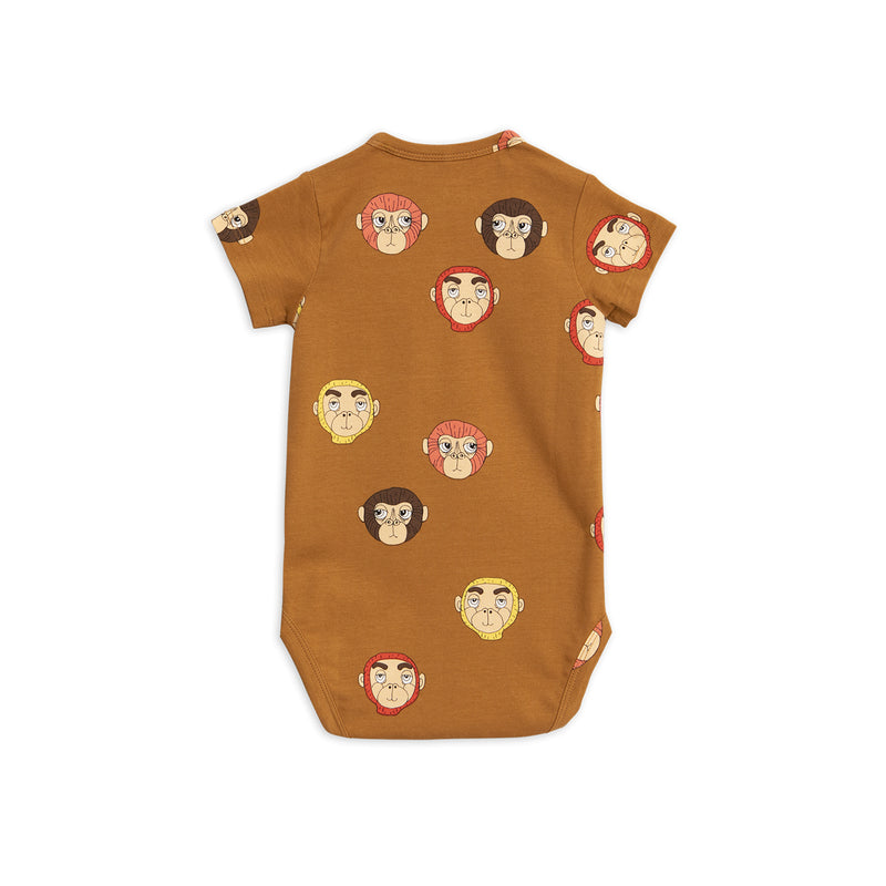 Mini Rodini Monkeys Body Brown