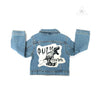 WEE MONSTER Denim Dino Print Jacket - Unisex for Boys and Girls