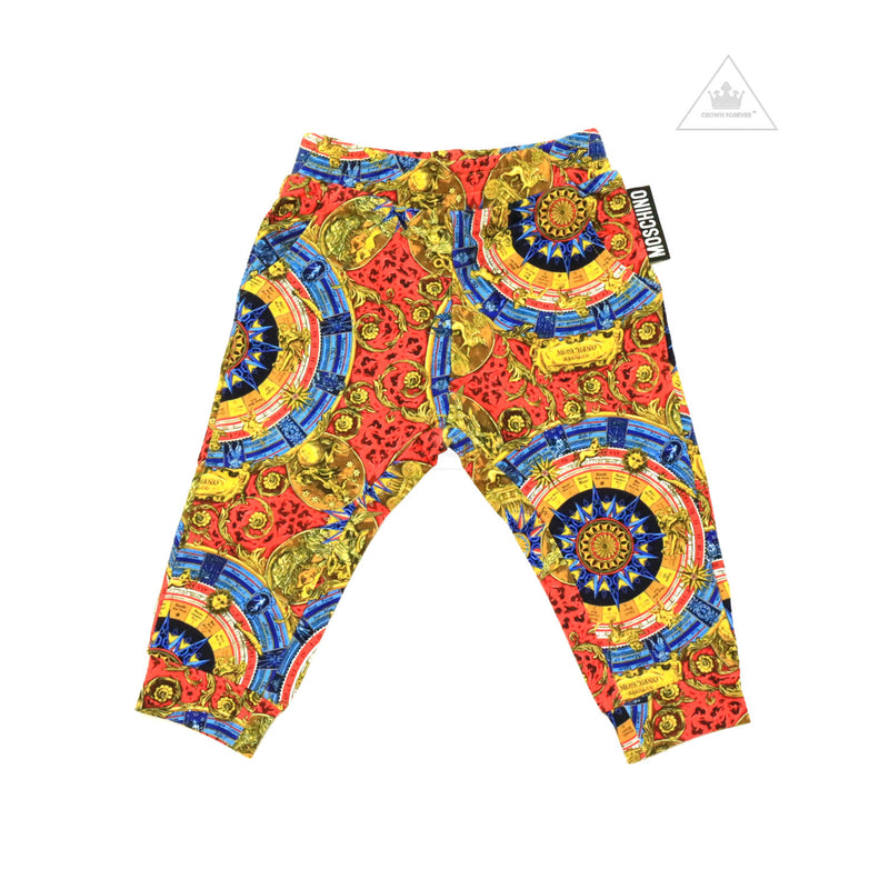 Moschino Baby Sweatpants With Multicolor Allover Print