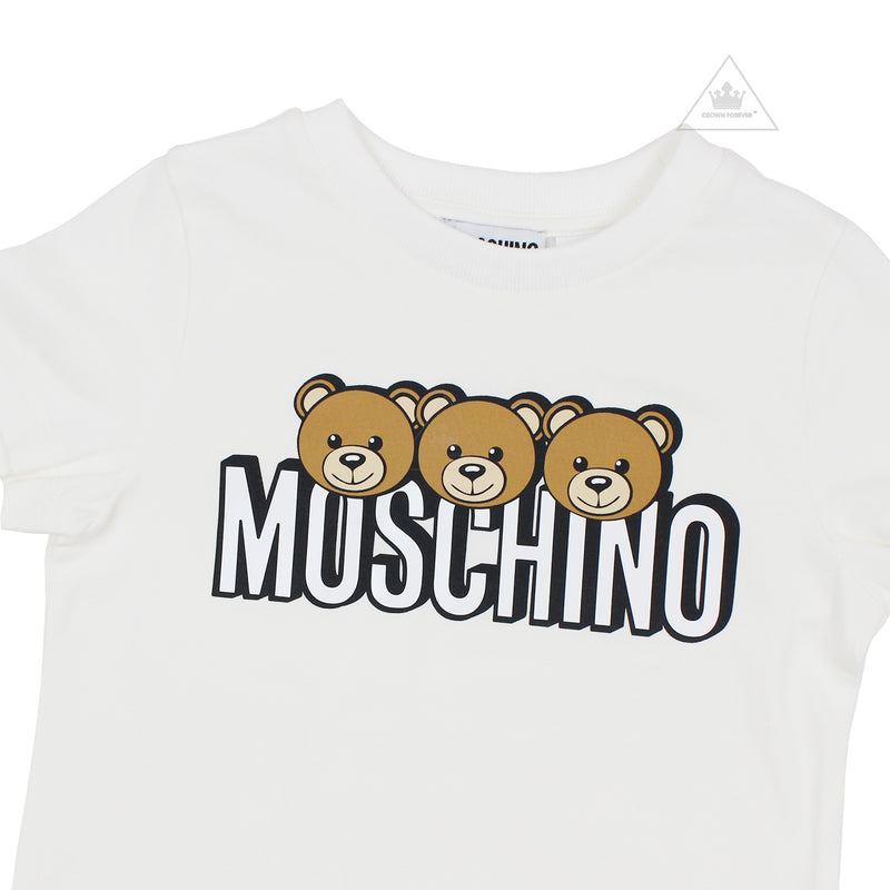 Moschino Kids Girls Short Sleeve T With Logo And Bear Graphics
