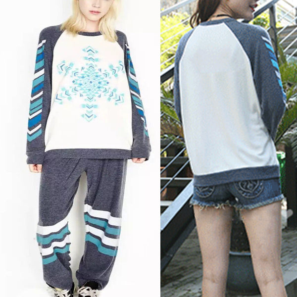 Lauren Moshi Blue Snow Sweater