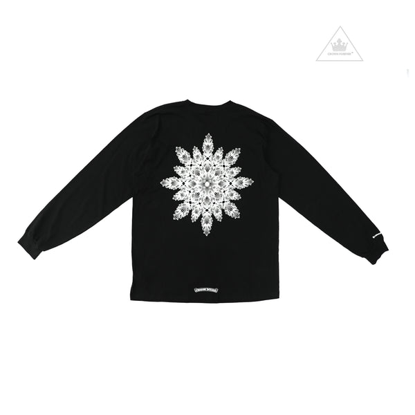 Chrome Hearts Floral Cross Tee in Fractal Pattern