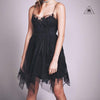 Free People Gossamer Mini Dress Black
