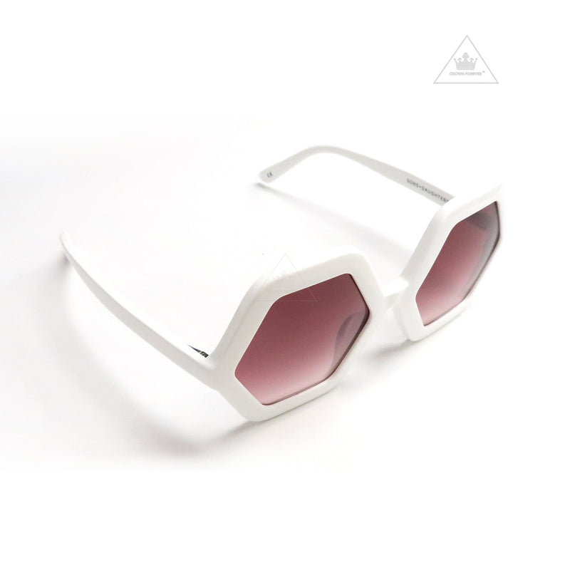 Sons + Daughters Eyewear Honey White Sunglasses