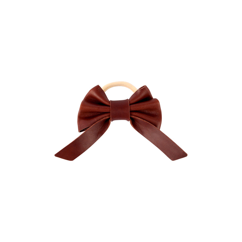 Donsje Cinty Hair Tie Burgundy Classic Leather