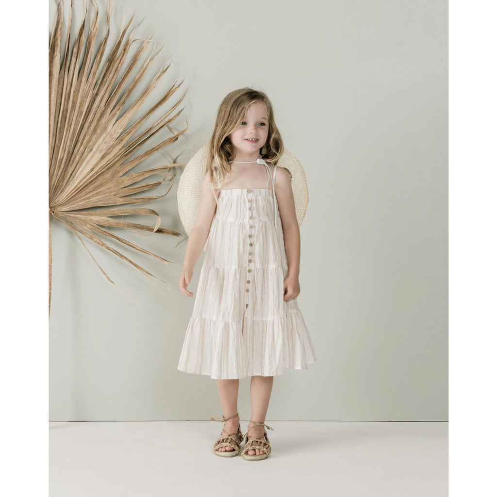 Rylee And Cru Sand Stripe Tiered Maxi Dress