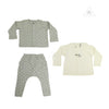 Petit Bateau Baby Boy 3PC Set LS Tee Fox Print Jacket And Pants