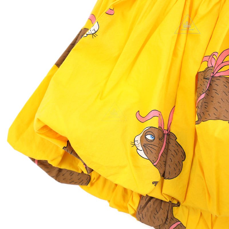 Mini Rodini Posh Guinea Pig Baloon Shirt Yellow