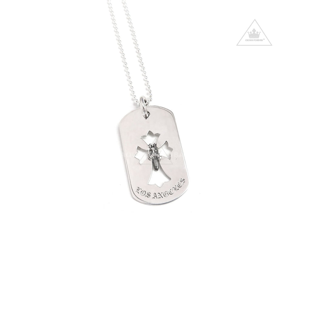 Chrome Hearts Cross Dagger Los Angeles Dog Tag