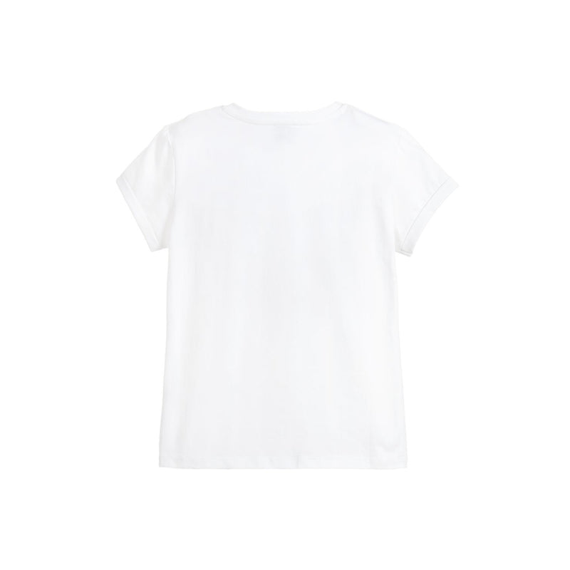 Karl Lagerfeld Kids Girls Cotton Pocket T-Shirt