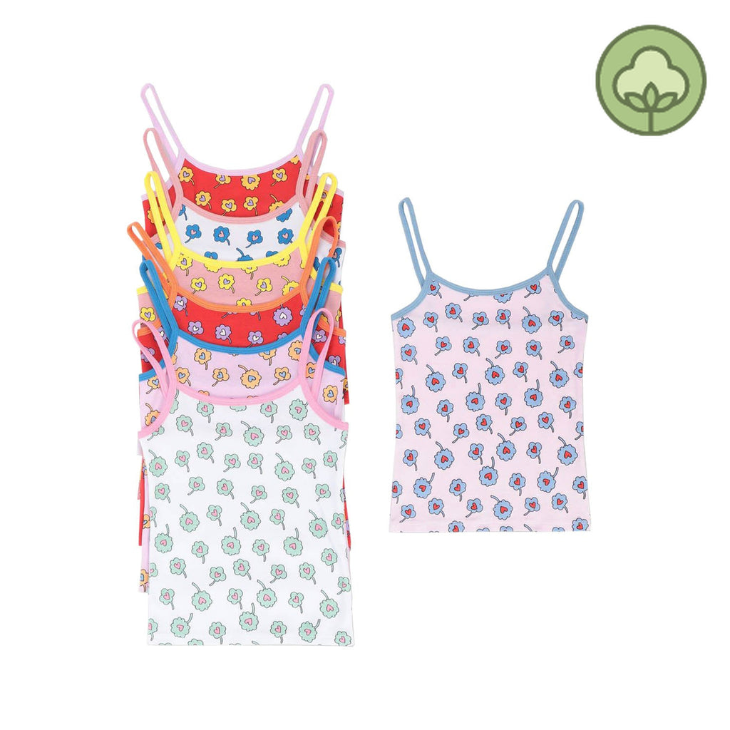Stella McCartney Kids Ditsy Flowers Jersey Rib Tank Week Set