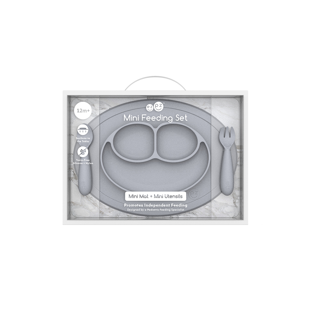 ezpz™ Mini Feeding Set in Pewter