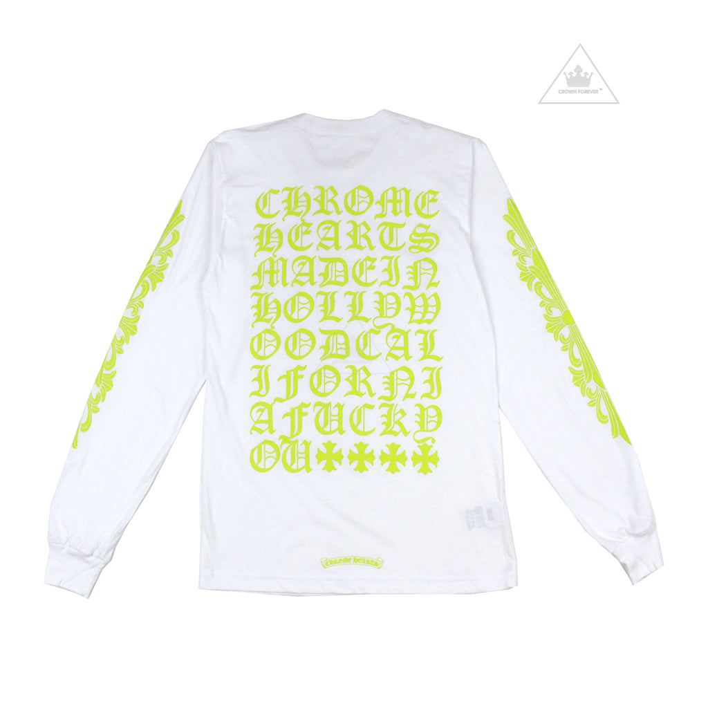 CH Made in Hollywood Long Sleeve T Shirt Neon Green