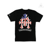 Chrome Hearts American Flag Cemetery Cross Short Sleeve