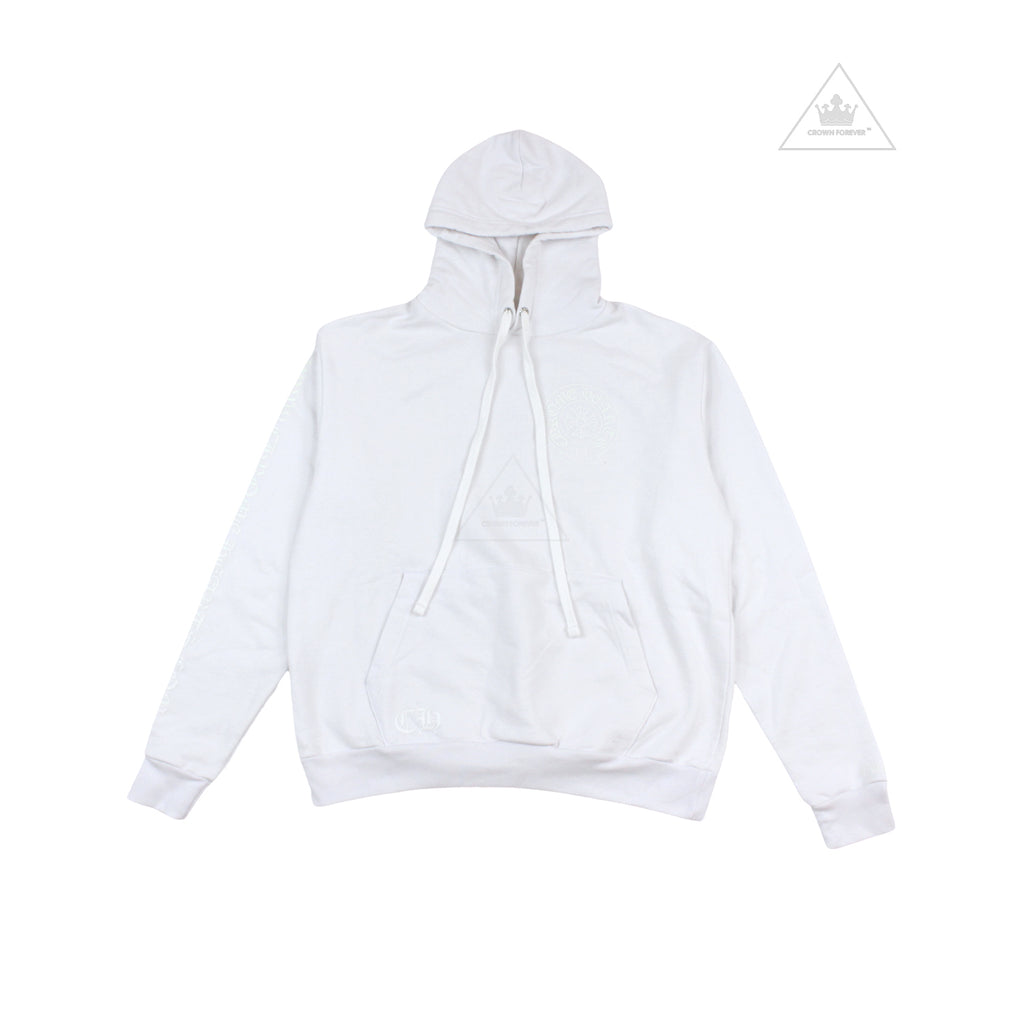 Chrome Hearts White Glow in the Dark Horseshoe Pullover Hoodie