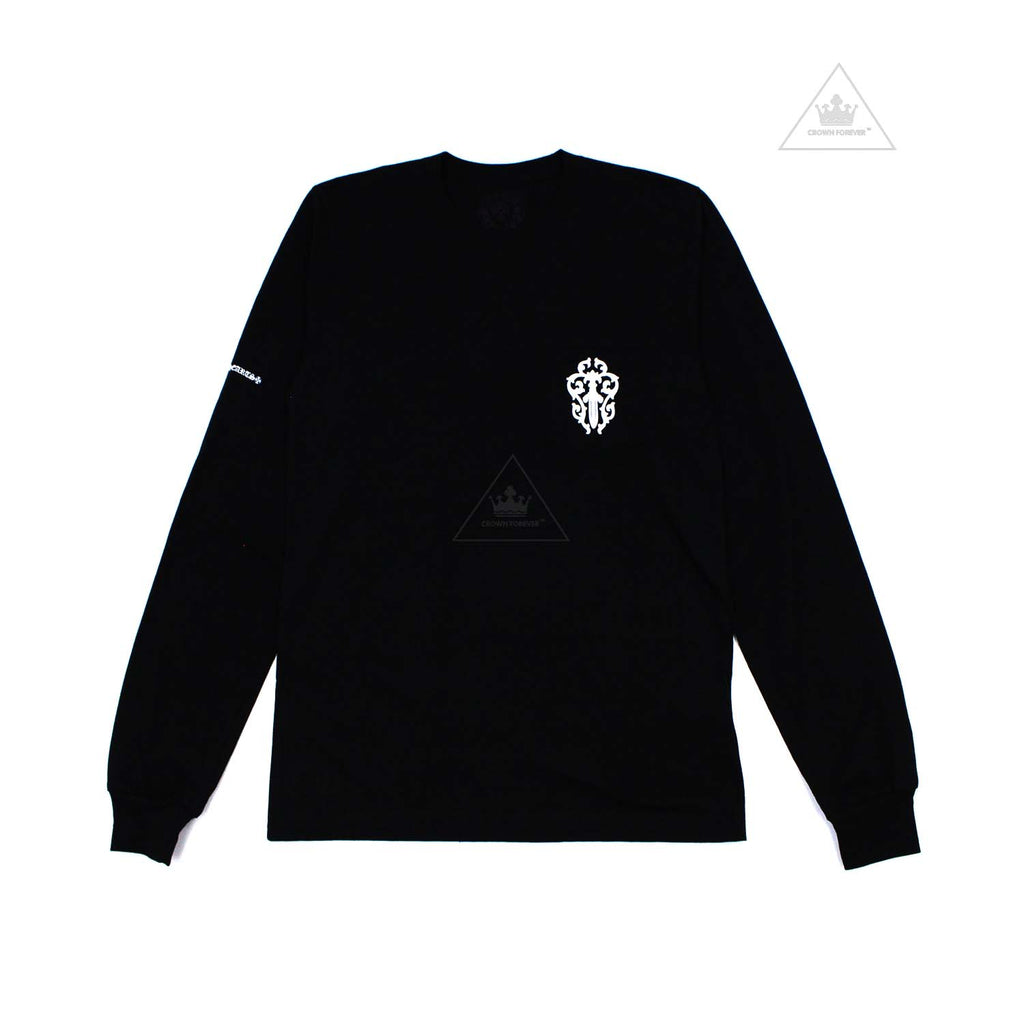 Chrome Hearts Half Script Dagger Long Sleeve T Shirt Black