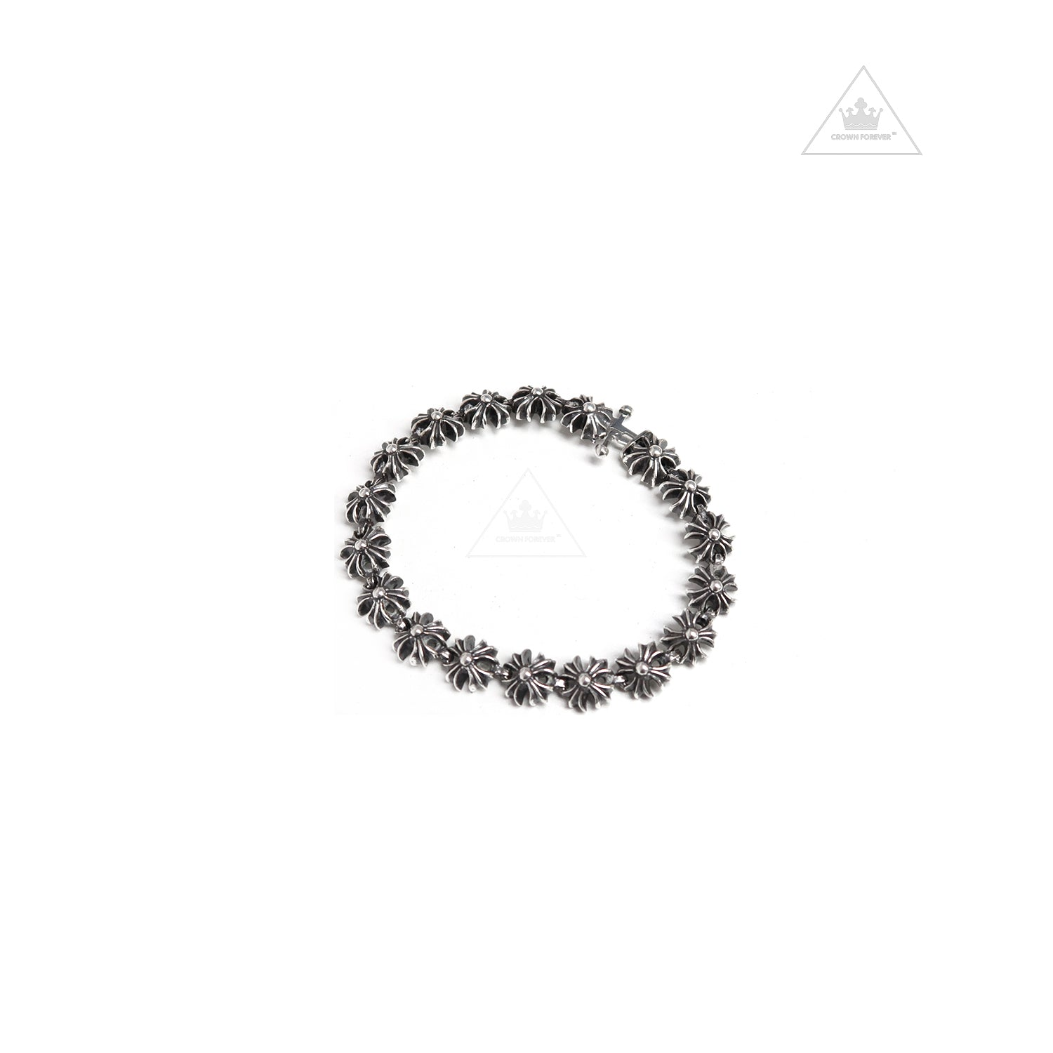 Chrome Hearts Tiny Plus Bracelet Crown Forever