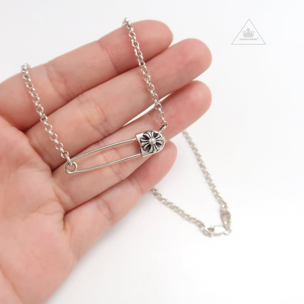 Chrome Hearts Safety Pin Pendant Necklace