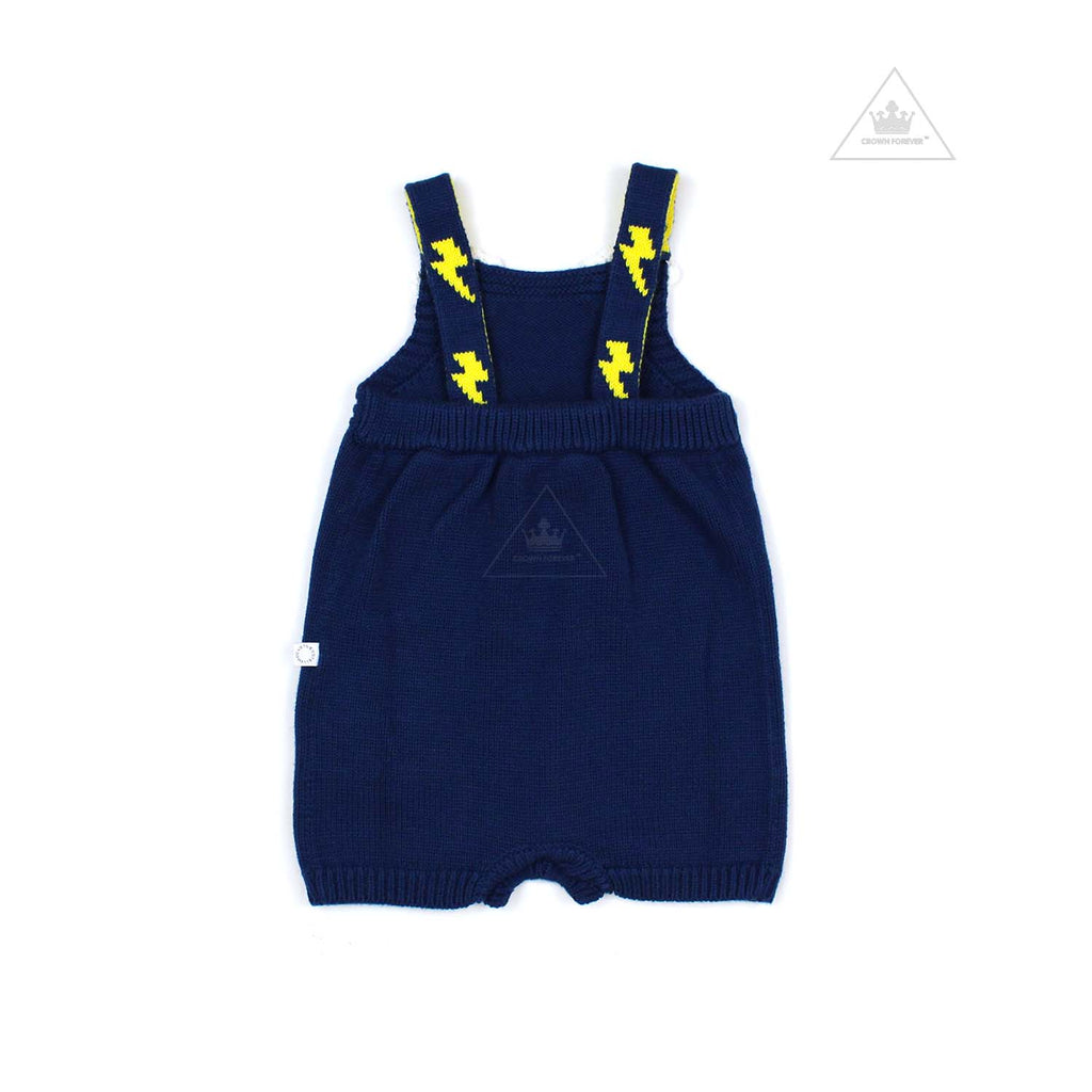 Stella McCartney Kids Baby Unisex Weather Embo Knit Body Navy