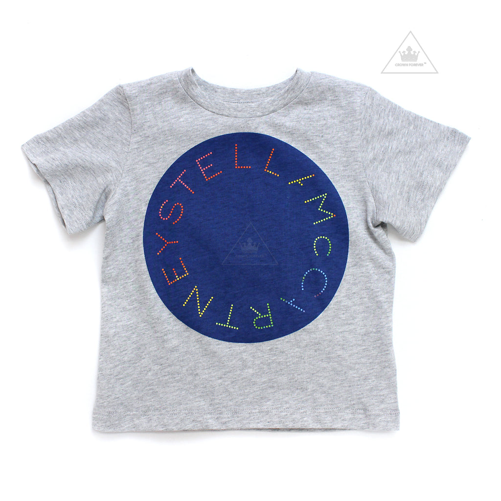 Stella McCartney Kid Boy Cotton Logo T-Shirt Grey