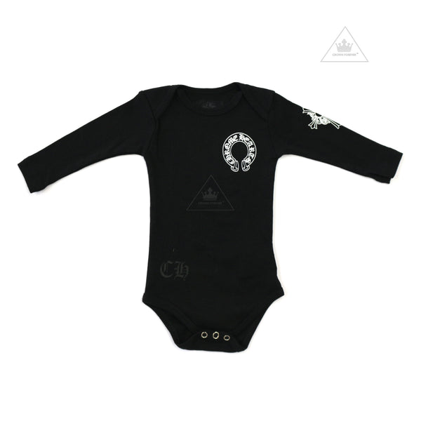CH Toddler Horseshoe Cross Long Sleeve Romper