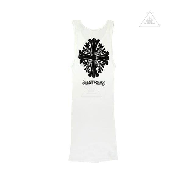 Chrome Hearts Floral Cross Tank Top White